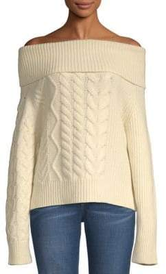 John Varvatos Thea Off-The-Shoulder Wool & Cashmere Sweater