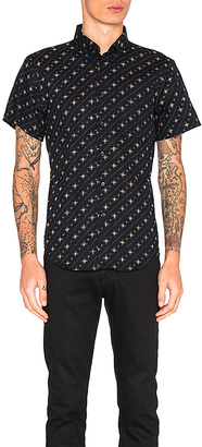 Naked & Famous Denim S/S Button Down in Navy $115 thestylecure.com