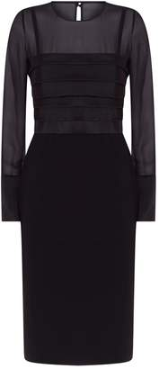 Max Mara Panelled Long Sleeve Dress