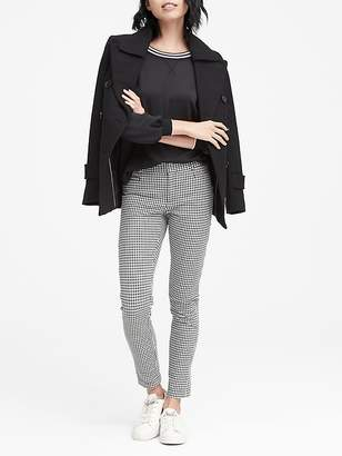 Banana Republic Sloan Skinny-Fit Houndstooth Ankle Pant