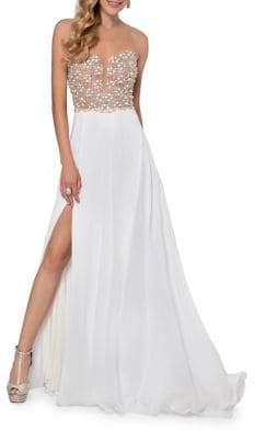 Terani Couture Glamour by Sleeveless Beaded Gown