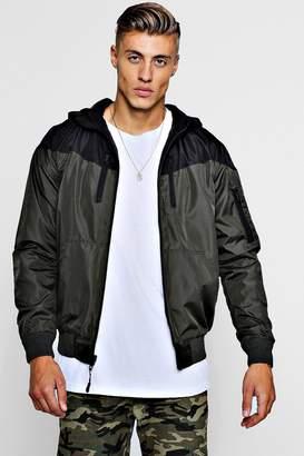boohoo Zip Through Hooded Fleece Lined Reversible Jacket