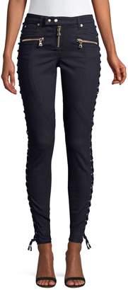 Faith Connexion Mid-Rise Lace-Up Jeans