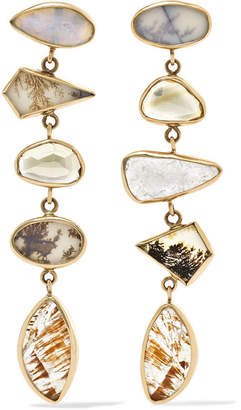 Melissa Joy Manning 14-karat Gold, Sterling Silver And Multi-stone Earrings - one size