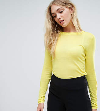 Asos Tall Jumper With Crew Neck In Sheer Knit