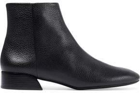 Mercedes Benz Castillo Branda Pebbled-Leather Ankle Boots