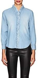 Etoile Isabel Marant Women's Lawendy Cotton Chambray Shirt-Blue