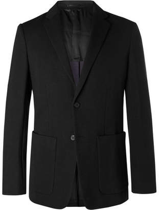 Theory Black Clinton Slim-Fit Unstructured Stretch-Ponte Blazer - Men - Black