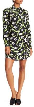 Equipment Brett Long Sleeve Floral Print Dress
