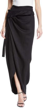 Awake Shiny Wraparound Skirt