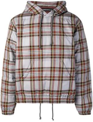 Undercover reversible plaid bomber jacket
