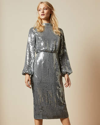 Ted Baker OPHLLIA Long sleeved sequin mini dress