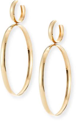 Lana Curve Large Hoop Drop Earrings