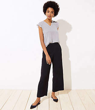LOFT Tall Fluid Wide Leg Pants