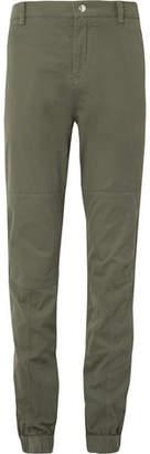 Brunello Cucinelli Stretch-Cotton Twill Trousers - Men - Green