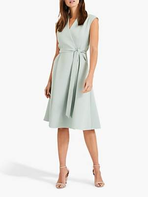 Phase Eight Joyce Belted Fit and Flare Dress, Peppermint