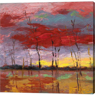 Bos. & Co. Metaverse Tramonto Sul Bosco I by Lucas Canvas Art