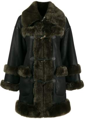 Urban Code Urbancode shearling-trimmed coat