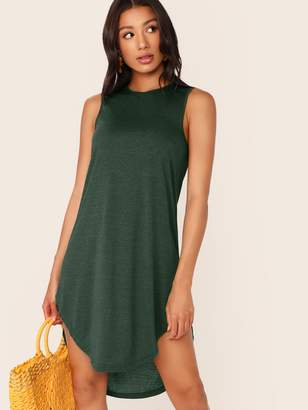 Shein High Low Curved Hem Tank Dress