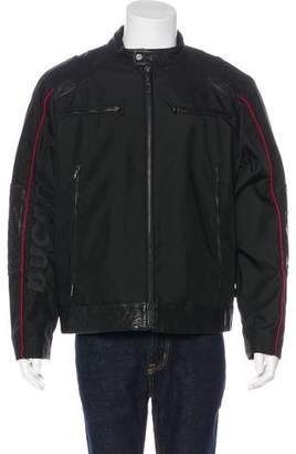 Tumi Ducati x Leather-Trimmed Café Racer Jacket