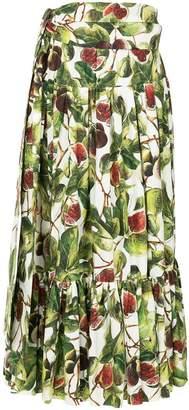 Dolce & Gabbana fig print skirt
