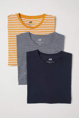 H&M 3-pack T-shirts Slim fit - Yellow