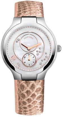 Philip Stein Women&s Diamond Quartz Strap Watch - 0.045 ctw $920 thestylecure.com