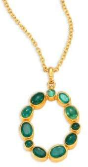 Gurhan Amulet Hue Emerald & 24K Yellow Gold Pendant Necklace