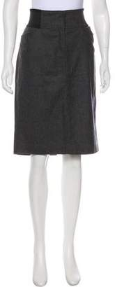 Dolce & Gabbana Wool Knee-Length Skirt w/ Tags