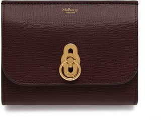 At Mulberry Amberley Medium Wallet Oxblood Cross Grain Leather