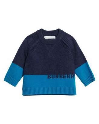 Burberry Alister Colorblock Cashmere Sweater, Size 12M-3