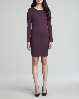 Alice + Olivia Dionne Long-Sleeve Lace-Inset Dress