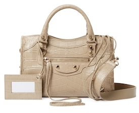 Balenciaga  Classic City Mini Embossed Leather Satchel