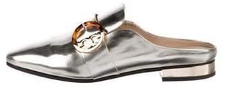 Tory Burch Metallic Leather Mules