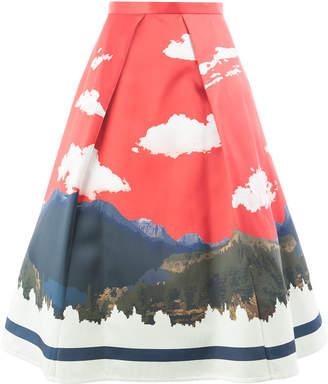 Undercover landscape print skirt