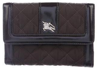 Burberry Quilted Compact Wallet