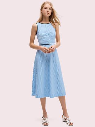 Kate Spade Button Back Stripe Dress, Charm Blue - Size 0