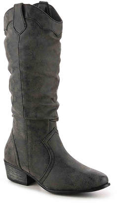 Journee Collection Drover Wide Calf Western Boot - Women's