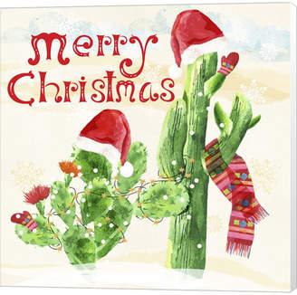Braun Metaverse Xmas Cactus By Lisa Powell Canvas Art