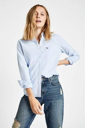 Jack Wills Womens Pale Blue Homefore Classic Fit Shirt - Blue