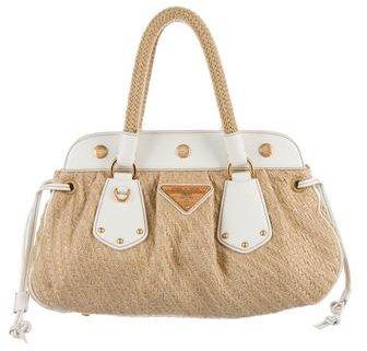 pradaPrada Juta Laminata Handle Bag