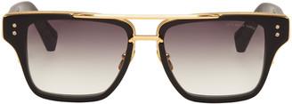 Dita Black Mach-Three Aviator Sunglasses $855 thestylecure.com