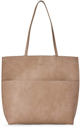 Street Level Reversible Taupe Large Tote
