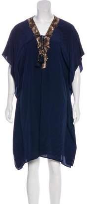 Figue Knee-Length Silk Dress