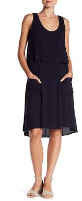 B Collection by Bobeau Casual Sleeveless Front Pocket Utility Dress