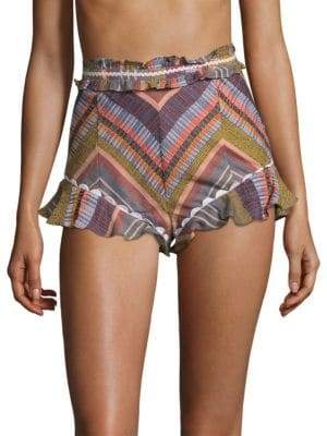 Red Carter Marcia Striped Shorts