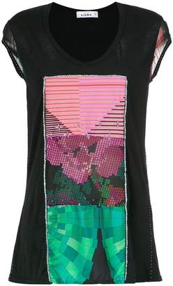 Amir Slama panels beaded blouse