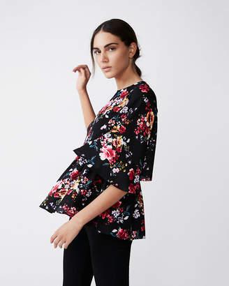 Express Floral Kimono Sleeve Blouse
