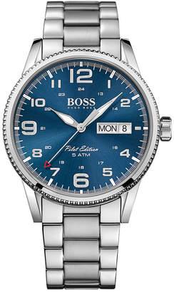 BOSS Hugo Men's Pilot Stainless Steel Bracelet Watch 44mm 1513329