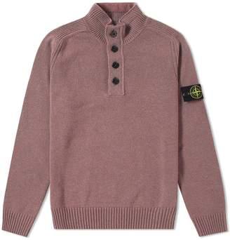Stone Island Half Zip & Button Knit